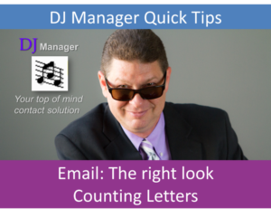 EMail, The Right Look, Counting Letters