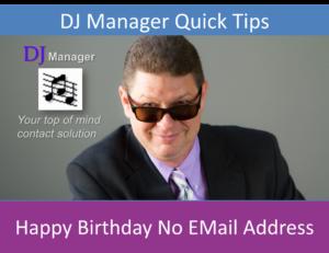 Happy Birthday No EMail Address